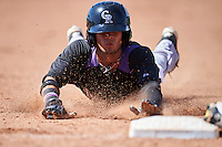 Colorado Rockies Manuel Melendez (10) during an Instructional League game against the San Francisco Giants on October 8, 2016 at the Giants Baseball Complex in Scottsdale, Arizona.  (Mike Janes/Four Seam Images)
