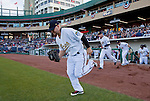 Reno Aces Cody Ross and the rest of the team take the field for their home opener against the Sacramento River Cats on Friday night, April 12, 2013 in Reno, Nevada.