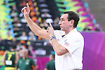 11.09.2014 Barcelona. FIBA Basketball World Cup. Semi-Finals. Picture show Mike Krzyzewski in action during game Usa v Lithuania at Palau St. Jordi