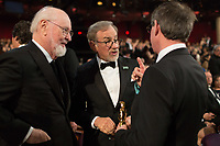 Oscar&reg; nominees John Williams and Steven Spielberg during the live ABC telecast of the 90th Oscars&reg; at the Dolby&reg; Theatre in Hollywood, CA on Sunday, March 4, 2018.<br /> *Editorial Use Only*<br /> CAP/PLF/AMPAS<br /> Supplied by Capital Pictures