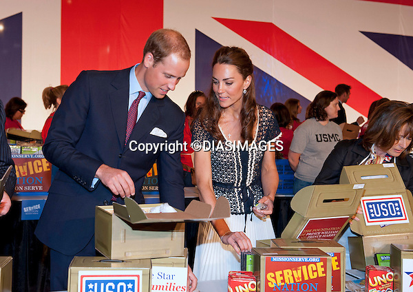 """PRINCE WILLIAM & KATE CALFORNIA .attend the Service Nation: Mission Serve event at the Sony Studios, Los Angeles_10/07/2011.Mandatory Credit Photo: ©DIASIMAGES. .**ALL FEES PAYABLE TO: """"NEWSPIX INTERNATIONAL""""**..No UK Usage until 6/08/2011.IMMEDIATE CONFIRMATION OF USAGE REQUIRED:.DiasImages, 31a Chinnery Hill, Bishop's Stortford, ENGLAND CM23 3PS.Tel:+441279 324672  ; Fax: +441279656877.Mobile:  07775681153.e-mail: info@newspixinternational.co.uk"""