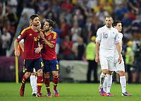 XABI ALONSO  / Karim BENZEMA  - 23.06.2012 - Espagne / France -1/4 Finale Euro 2012 .Photo : Amandine Noel / Icon Sport.