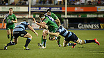 Cardiff Blues' Macauley Cook is tackled by Cardiff Blues' Tom Isaacs<br /> Guiness Pro12<br /> Cardiff Blue v Connacht<br /> BT Sport Cardiff Arms Park<br /> 06.03.15<br /> &copy;Ian Cook -SPORTINGWALES