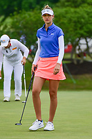 Nelly Korda (USA) prepares to putt on 8 during round 2 of  the Volunteers of America Texas Shootout Presented by JTBC, at the Las Colinas Country Club in Irving, Texas, USA. 4/28/2017.<br /> Picture: Golffile | Ken Murray<br /> <br /> <br /> All photo usage must carry mandatory copyright credit (&copy; Golffile | Ken Murray)