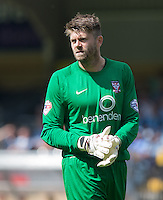 Scott Flinders of York City during the Sky Bet League 2 match between Wycombe Wanderers and York City at Adams Park, High Wycombe, England on 8 August 2015. Photo by Andy Rowland.