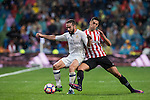 Daniel Carvajal Ramos (l) of Real Madrid battles for the ball with Sabin Merino of Athletic Club during their La Liga match between Real Madrid and Athletic Club at the Santiago Bernabeu Stadium on 23 October 2016 in Madrid, Spain. Photo by Diego Gonzalez Souto / Power Sport Images
