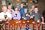 """QUIETLY: Customers of Hennessy Front bar, who celebrated """"ARTHURS DAY"""" quitley, L-r: Dave Barrett, Tony Enright, Finbarr Griffin, Ger Hennessy, John O'Callaghan, Tom Mahony and Brian Kennedy.........."""