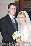 Louise Coughlan, Orchard Road, Cork, daughter of Jacinta and Daniel, and Peter Lyons, Caherdown, Listowel, son of Pete and Mary, who were married in St Mary's Cathedral, Killarney, Fr Pat Crean-Lynch officiated at the ceremony, best man was Tony O'Hanlon, groomsmen were Owen and Donal Lyons, Maid of Honour Sophia Jay Coughlan, Deborah Couch and Sandra Finn, page boys were Finn Lyons and Daniel Coughlan, the reception was held in Brehon and the couple will reside in London.