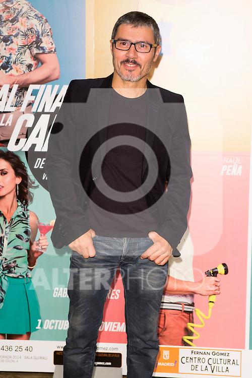 "Angel Pardo attends the Premiere of the Theater Play ""Al Final de la carretera"" at Fenan Gomez Theatre in Madrid, Spain. October 7, 2014. (ALTERPHOTOS/Carlos Dafonte)"