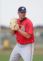 Washington Nationals minor leaguer Dan Kolb during Spring Training at the Carl Barger Training Complex on March 19, 2007 in Melbourne, Florida.  (Mike Janes/Four Seam Images)