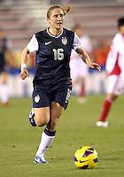 BOCA RATON, FL - DECEMBER 15, 2012: Rachel Buehler (16) of the USA WNT against China WNT during an international friendly match at FAU Stadium, in Boca Raton, Florida, on Saturday, December 15, 2012. USA won 4-1.
