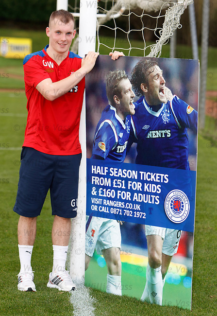Gregg Wylde at Murray Park promoting half season tickets