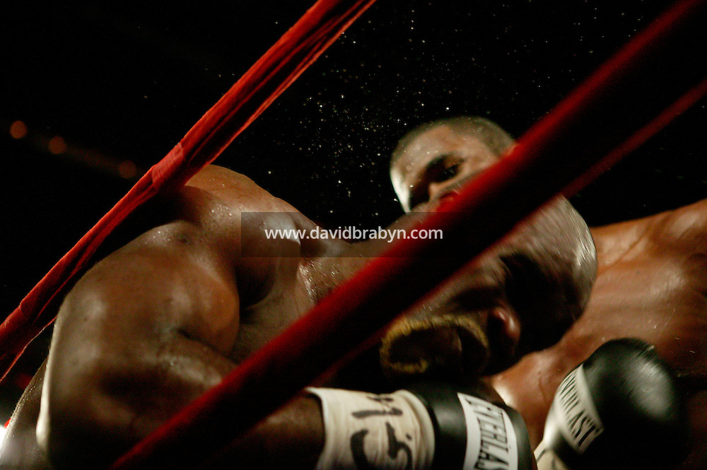 7 January 2006 - New York City, NY - Frenchman Jean-Marc Mormeck (L) and Jamaican O'Neill Bell (R) boxe in the World Cruiserweight Championship unification fight at Madison Square Garden in New York City, USA, 7 January 2006. O'Neil Bell won by KO in the 10th round.