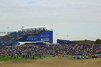 General view of 9th green during the Friday Fourballs at the Ryder Cup, Le Golf National, Paris, France. 27/09/2018.<br /> Picture Phil Inglis / Golffile.ie<br /> <br /> All photo usage must carry mandatory copyright credit (© Golffile | Phil Inglis)