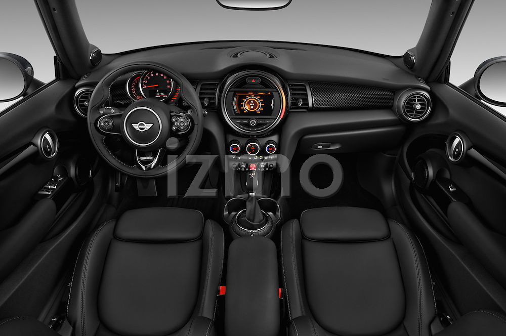 Stock photo of straight dashboard view of 2016 MINI Cooper S 2 Door Convertible Dashboard