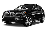 Stock pictures of low aggressive front three quarter view of 2016 BMW X1 28i 5 Door Suv Low Aggressive