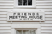 Friends Meeting House during the autumn months in Casco, Maine USA.This Meetinghouse was built in 1814 and is listed on the National Register of Historic Places.