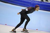 SCHAATSEN: HEERENVEEN: Thialf, 4th Masters International Speed Skating Sprint Games, 25-02-2012, Pentti Kiiskinen (M65) 3rd, ©foto: Martin de Jong