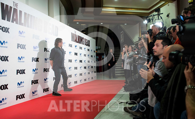 """Norman Reedus attends to an event with fans of """"The Walking Dead"""" at Cines Capitol in Madrid. March 09, 2017. (ALTERPHOTOS/Borja B.Hojas)"""