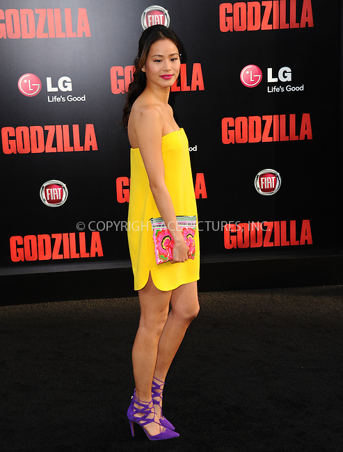 ACEPIXS.COM<br /> <br /> May 8 2014, LA<br /> <br /> Jamie Chung arriving at the Los Angeles premiere of 'Godzilla' at Dolby Theatre on May 8, 2014 in Hollywood, California. <br /> <br /> By Line: Peter West/ACE Pictures<br /> <br /> ACE Pictures, Inc.<br /> www.acepixs.com<br /> Email: info@acepixs.com<br /> Tel: 646 769 0430