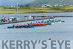 Action from the start of the Senior Ladies race at the Valentia Regatta on Monday, with the Sneem crew taking Gold.