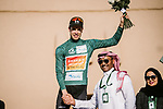 Phil Bauhaus (GER) Bahrain-Mclaren wins the overall general classification at the end of Stage 5 of the Saudi Tour 2020 running 144km from Princess Nourah University to Al Masmak, Saudi Arabia. 8th February 2020. <br /> Picture: ASO/Pauline Ballet   Cyclefile<br /> All photos usage must carry mandatory copyright credit (© Cyclefile   ASO/Pauline Ballet)