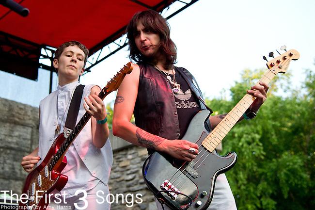 Jessi Darlin of Those Darlins performs at the Bunbury Music Festival in Cincinnati, Ohio.