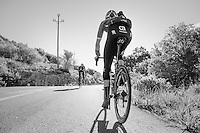 Up the Puig de Randa during Trek-Segafredo winter training camp <br /> <br /> january 2017, Mallorca/Spain