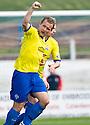 Morton's Peter Weatherson celebrates after he scores Morton's first goal   ...
