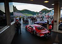 Jun 15, 2018; Bristol, TN, USA; NHRA pro stock driver Erica Enders during qualifying for the Thunder Valley Nationals at Bristol Dragway. Mandatory Credit: Mark J. Rebilas-USA TODAY Sports