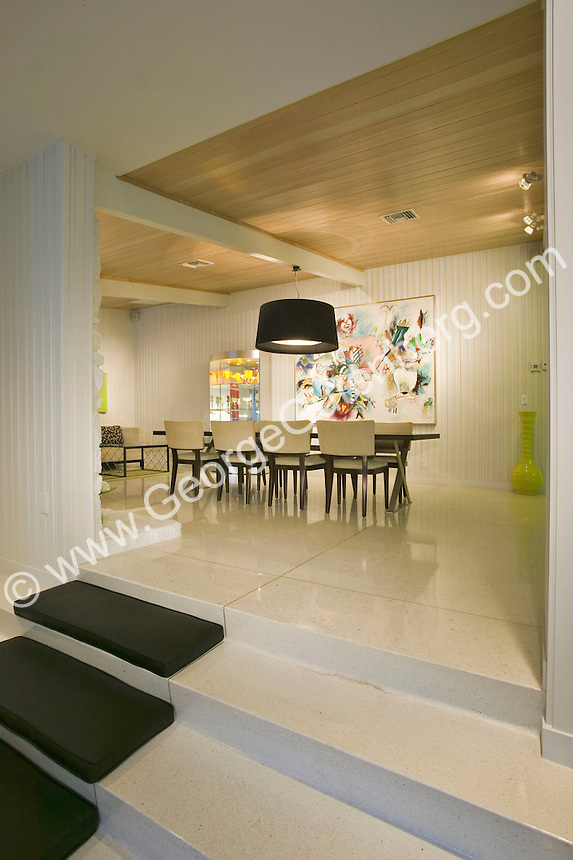 Stock photo of mid-century dining room