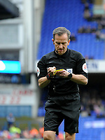 Referee Keith Stroud <br /> <br /> Photographer Hannah Fountain/CameraSport<br /> <br /> The EFL Sky Bet Championship - Ipswich Town v Nottingham Forest - Saturday 16th March 2019 - Portman Road - Ipswich<br /> <br /> World Copyright &copy; 2019 CameraSport. All rights reserved. 43 Linden Ave. Countesthorpe. Leicester. England. LE8 5PG - Tel: +44 (0) 116 277 4147 - admin@camerasport.com - www.camerasport.com
