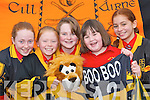 OPTIMISTIC: Dr Crokes supporters, l-r, Chloe ODoherty, Elaine Kissane, Cora Power, Alison Keogh and Jessica Edwards preparing for the All Ireland AIB Club Final which will be held in Croke Park on Saturday..