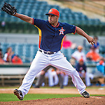 12 March 2014: Houston Astros pitcher Raul Valdes on the mound during a Spring Training game against the Washington Nationals at Osceola County Stadium in Kissimmee, Florida. The Astros rallied in the bottom of the 9th to edge out the Nationals 10-9 in Grapefruit League play. Mandatory Credit: Ed Wolfstein Photo *** RAW (NEF) Image File Available ***
