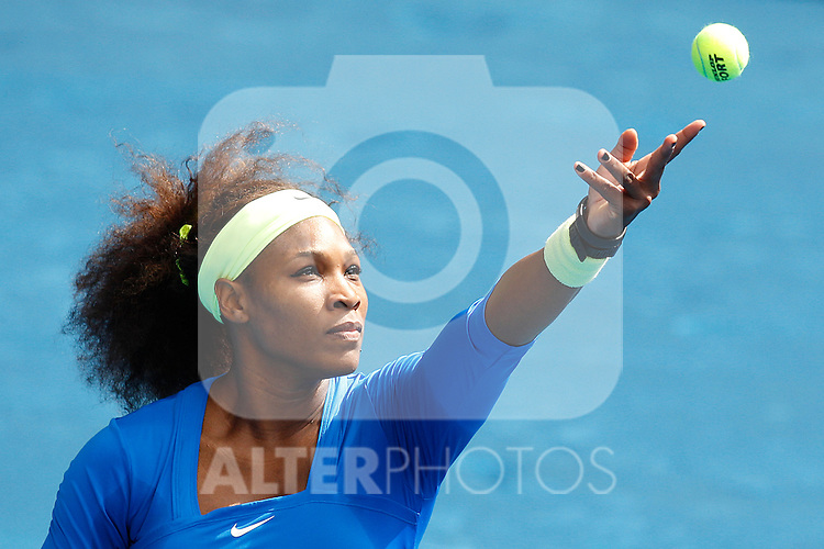 Serena Williams (USA) during Mutua Madrid Open 2012 match on may 7th 2012...Photo: Cesar Cebolla / ALFAQUI