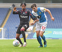 Blackburn Rovers' Joseph Rankin-Costello battles with Reading's Michael Olise<br /> <br /> Photographer Dave Howarth/CameraSport<br /> <br /> The EFL Sky Bet Championship - Blackburn Rovers v Reading - Saturday 18th July 2020 - Ewood Park - Blackburn<br /> <br /> World Copyright © 2020 CameraSport. All rights reserved. 43 Linden Ave. Countesthorpe. Leicester. England. LE8 5PG - Tel: +44 (0) 116 277 4147 - admin@camerasport.com - www.camerasport.com