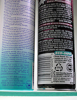 LABEL ON AEROSOL CANS<br />