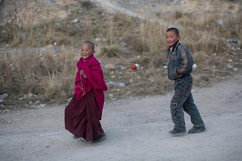 On the pilgrimage path , around the monastery.