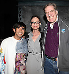 Aaron J. Albano, Actors Equity Executive Director Mary McColl & Nick Wyman.attending the Actors' Equity Broadway Opening Night Gypsy Robe Ceremony for Aaron J. Albano in.'Newsies - The Musical' at the Nederlander Theatre in NewYork City on 3/29/2012
