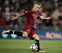 Calcio, Serie A: Roma, stadio Olimpico, 26 agosto, 2017.<br /> Roma's Radja Naiggolan in action during the Italian Serie A football match between Roma and Inter at Rome's Olympic stadium, August 26, 2017.<br /> UPDATE IMAGES PRESS/Isabella Bonotto