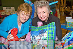 All things bright and beautiful Ellen O'Sullivan and Frances O' Keefe, from Listowel pose for a picture at the arts and crafts fair at the community Centre in Ballybunion on Sunday..   Copyright Kerry's Eye 2008