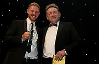 Jamie Porter receives the Media player of the year award during the Essex CCC 2017 Awards Evening at The Cloudfm County Ground on 5th October 2017