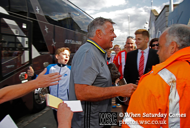 Hartlepool United 0 Sunderland 3, 20/07/2016. Victoria Park, Pre Season Friendly. Sam Allardyce Manager of Sunderland leaves the team bus to take charge of his last game before being announced as the new England Manager. Photo by Paul Thompson.