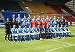 St Johnstone FC Season 2017-18 Photocall<br />Pictured back row from left, Manny Fowler Kit Manager, Ally Gilchrist, Graham Cummins, Liam Gordon, Chris Kane, Blair Alston, Jason Kerr, Joe Shaughnessy, Murray Davidson, Brian Easton, Keith Watson and George Browning U20 GK Coach.<br />Middle row from left, Tony Tompos, Head Physio, Paul Mathers GK Coach, Alistair Stevenson Youth Dev Manager, Kyle McClean, Paul Paton, Ben MacKenzie, Alan Mannus, Zander Clark, Mark Hurst, Scott Tanser, Liam Craig, Alex Headrick Sports Scientist, Mel Stewart Physio and Euan Peacock Chief Scout.<br />Front row from left, David Wotherspoon, Craig Thomson, Aaron Comrie, Stefan Scougall, Steven Anderson Captain, Callum Davidson Assistant Manager, Tommy Wright Manager, Alex Cleland Coach, Chris Millar Vice Captain, Michael O&rsquo;Halloran, Greg Hurst, Steven MacLean and Richie Foster. <br />Picture by Graeme Hart.<br />Copyright Perthshire Picture Agency<br />Tel: 01738 623350  Mobile: 07990 594431