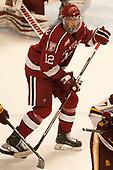 John Marino (Harvard - 12) - The University of Minnesota Duluth Bulldogs defeated the Harvard University Crimson 2-1 in their Frozen Four semi-final on April 6, 2017, at the United Center in Chicago, Illinois.