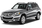 Angular Front Three Quarter View of 2013 Mercedes-Benz GLK-Class 350 Compact SUV Stock Photo