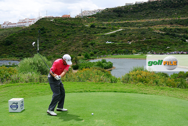 Graeme McDowell (NIR) tees off on the par4 4th tee during Sunday afternoon's Final Match of the Volvo World Matchplay Championship at Finca Cortesin, Casares, Spain 20th May 2012 (Photo Eoin Clarke/www.golffile.ie)