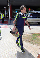 Wednesday 18 September 2013<br /> Pictured: Pablo Hernandez arrives at Valencia Airport.<br /> Re: Swansea City FC players and staff travelling to Spain for their UEFA Europa League game against Valencia.