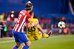 Atletico de Madrid's player Filipe Luis and CF Rostov's player Andrei Prepelita during a match of UEFA Champions League at Vicente Calderon Stadium in Madrid. November 01, Spain. 2016. (ALTERPHOTOS/BorjaB.Hojas)