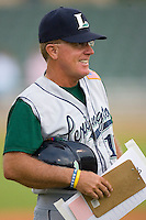 Lexington Legends manager Tom Lawless #12 at Fieldcrest Cannon Stadium August 19, 2009 in Kannapolis, North Carolina. (Photo by Brian Westerholt / Four Seam Images)